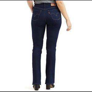 Levi's Curvy Mid Rise Bootcut Jeans 4 Medium 27x30